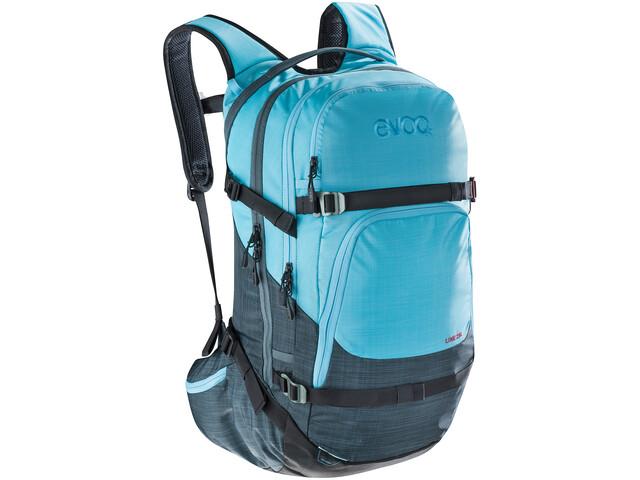 EVOC Line Mochila 28L, heather slate-heather neon blue